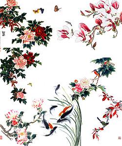 中国工笔画高清背景素材下载 千库网 第3页