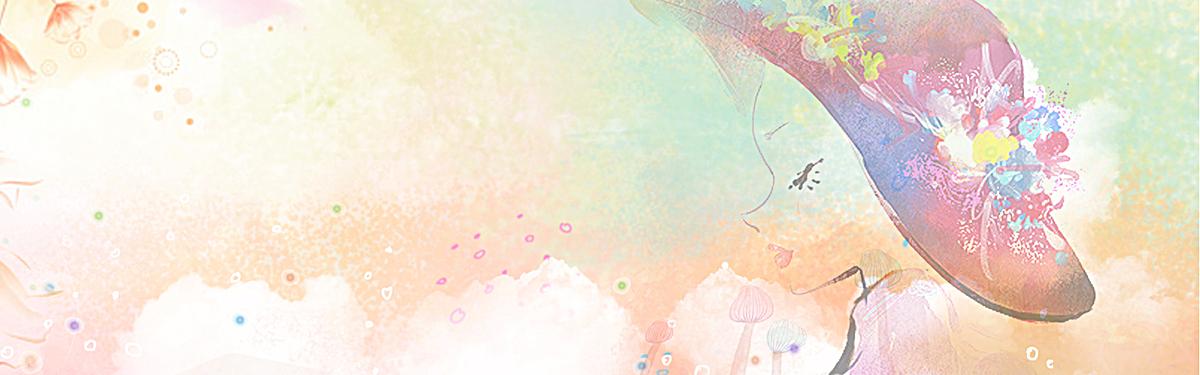 三八妇女节女生节手绘粉色海报背景
