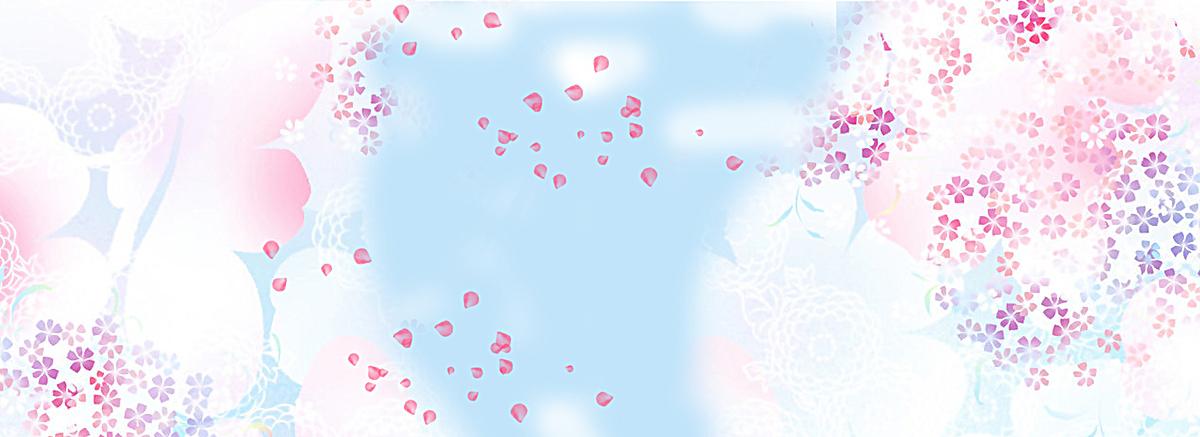 三八妇女节女生节手绘蓝色海报背景