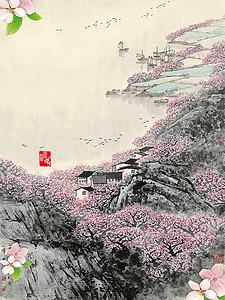 古风唯美风景banner 1920 600 -古典风景高清背景素材下载 千库网 第4
