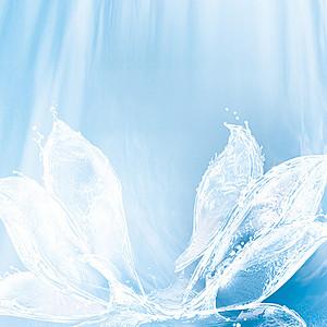 白色飞溅水花化妆品PSD主图背景素材