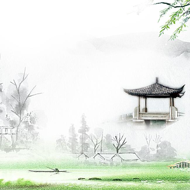 中国风清明节水墨主图背景素材图片
