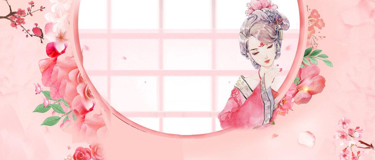 三八女神节古风手绘banner