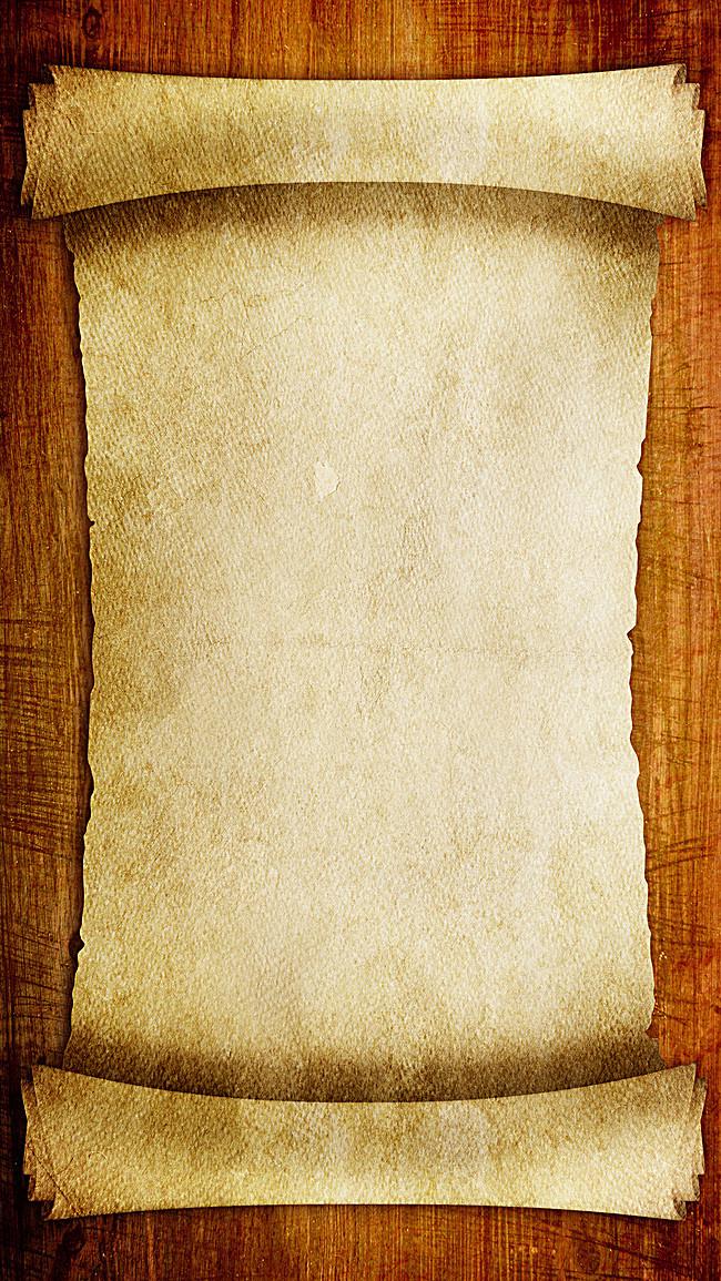 欧式纸质卷轴背景素材