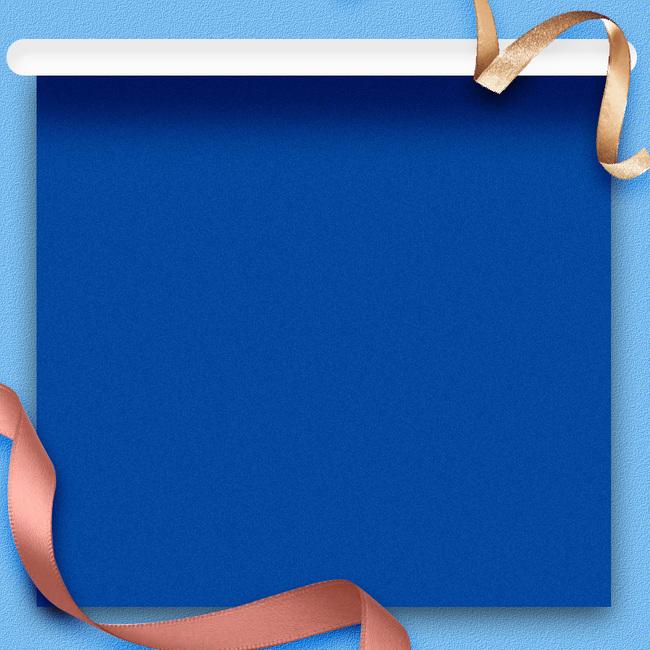 蓝色礼盒丝带化妆品psd分层主图背景素材psd素材-90