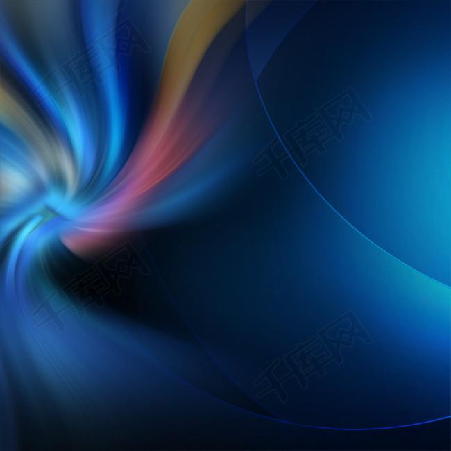 旋转光晕电子科技商务蓝色渐变