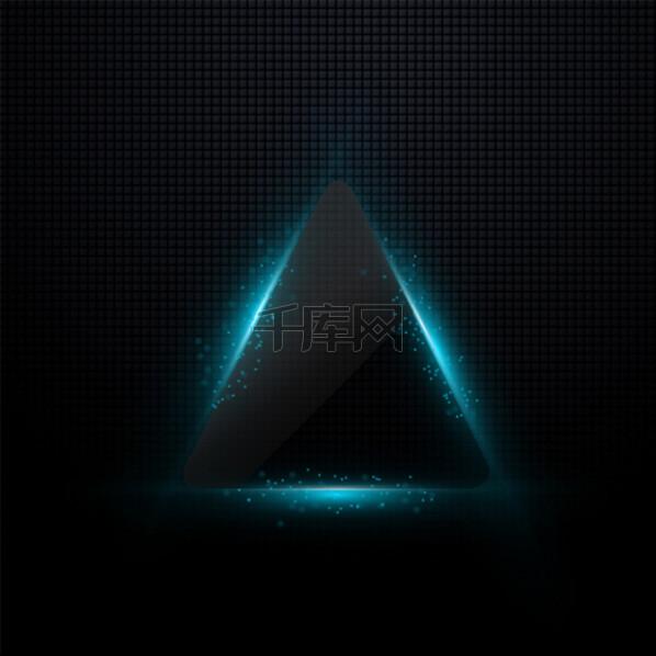 科技感几何组合三角蓝光亮光