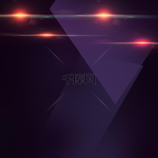 紫色渐变几何家电数码PSD分层主图背景
