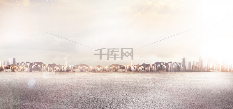 都市大气梦幻粉色汽车海报banner