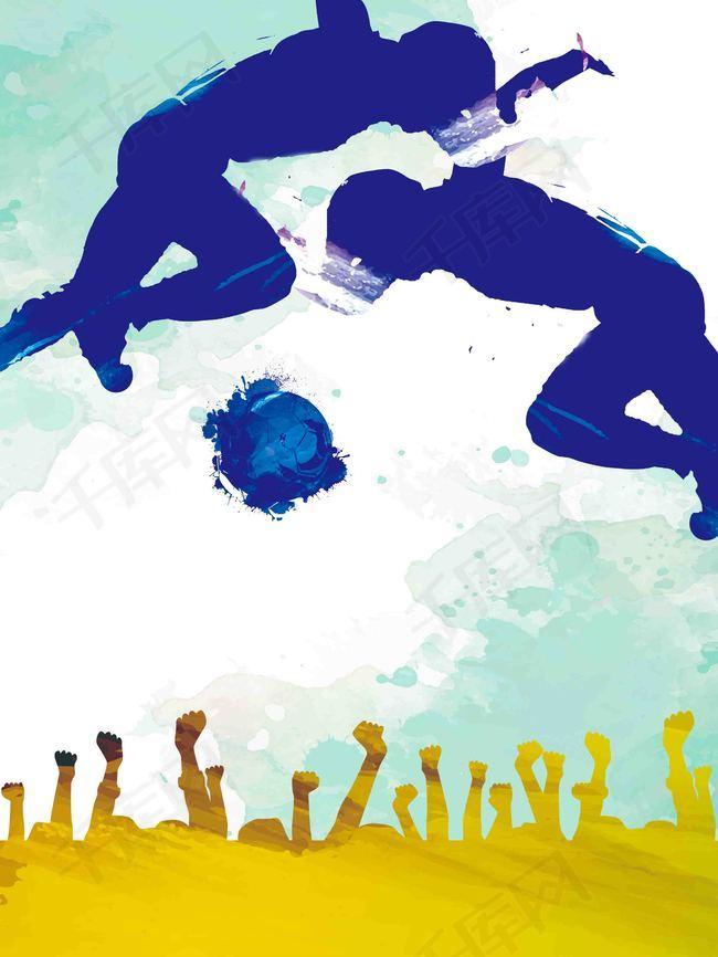 手绘足球比赛海报背景模板