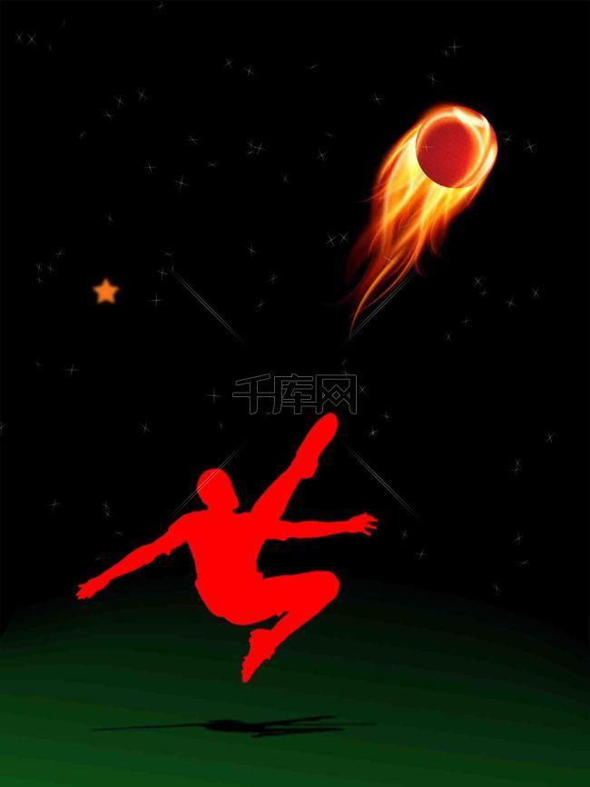 夜空中最亮的星足球海报背景模板