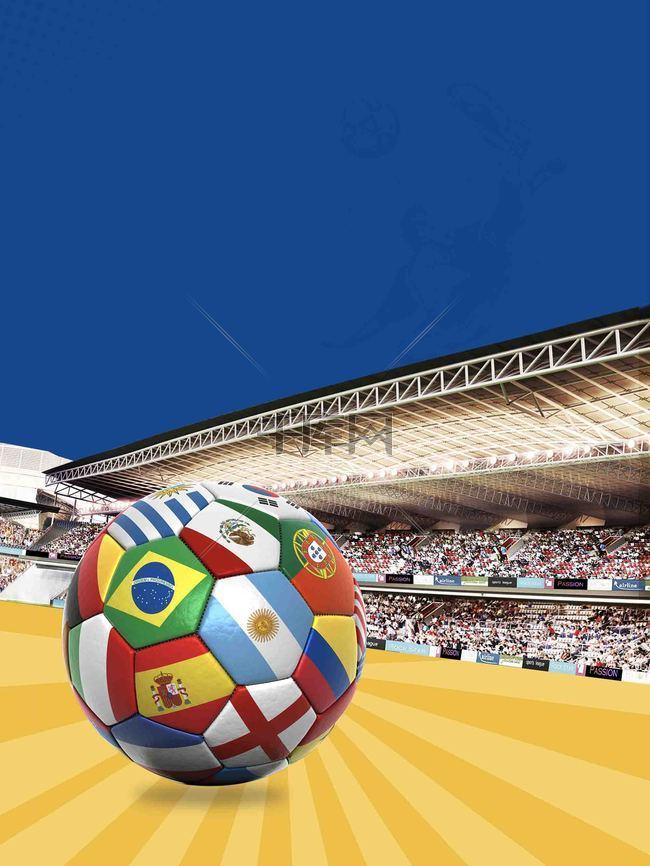 足球直播新赛季海报背景模板