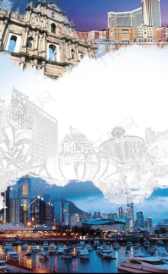 城市旅游风景背景素材