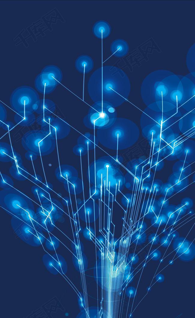 蓝色科技之光背景素材