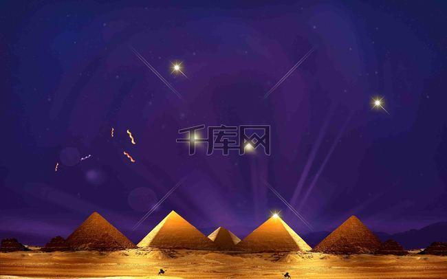 金字塔创意海报背景模板