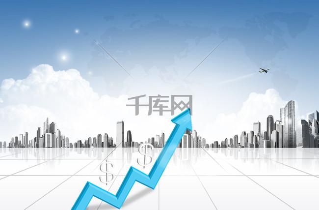 商务金融海报PSD背景素材