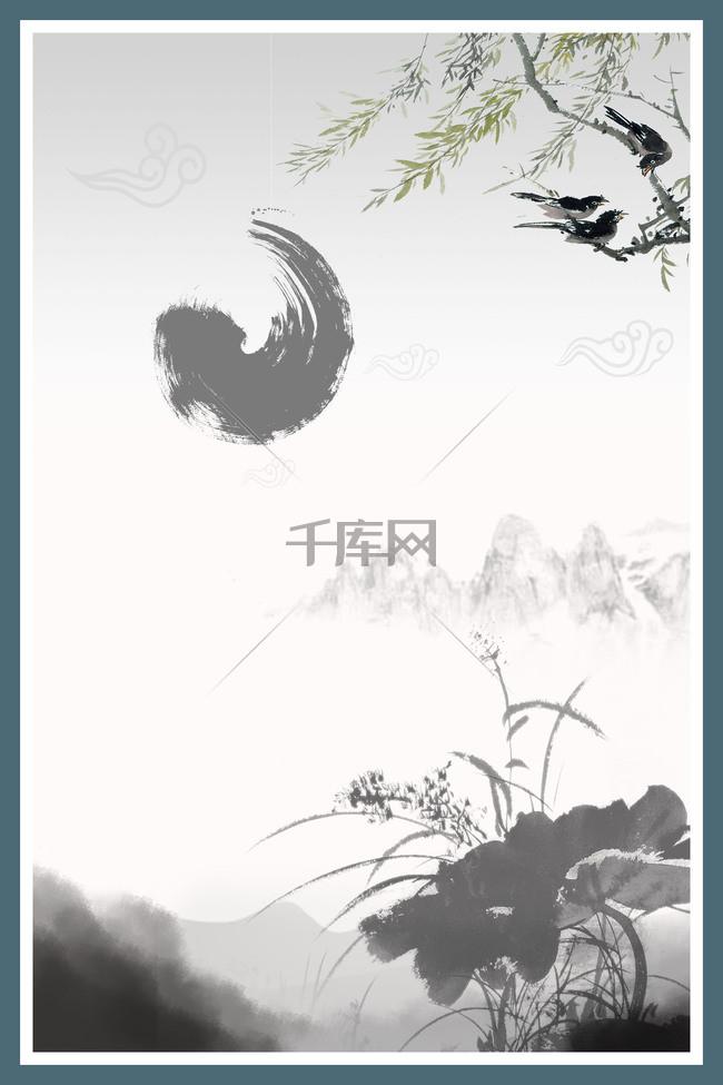 中国风古典展板背景