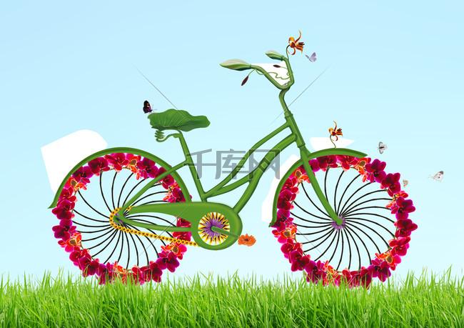 绿色环保低碳出行公益海报设计