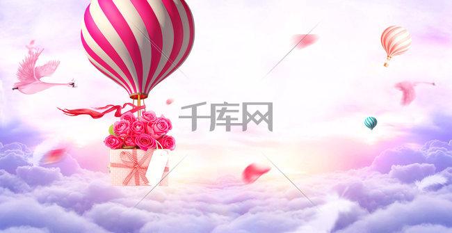 小清新文艺广告背景