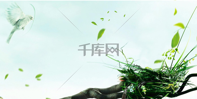 绿色春天广告背景