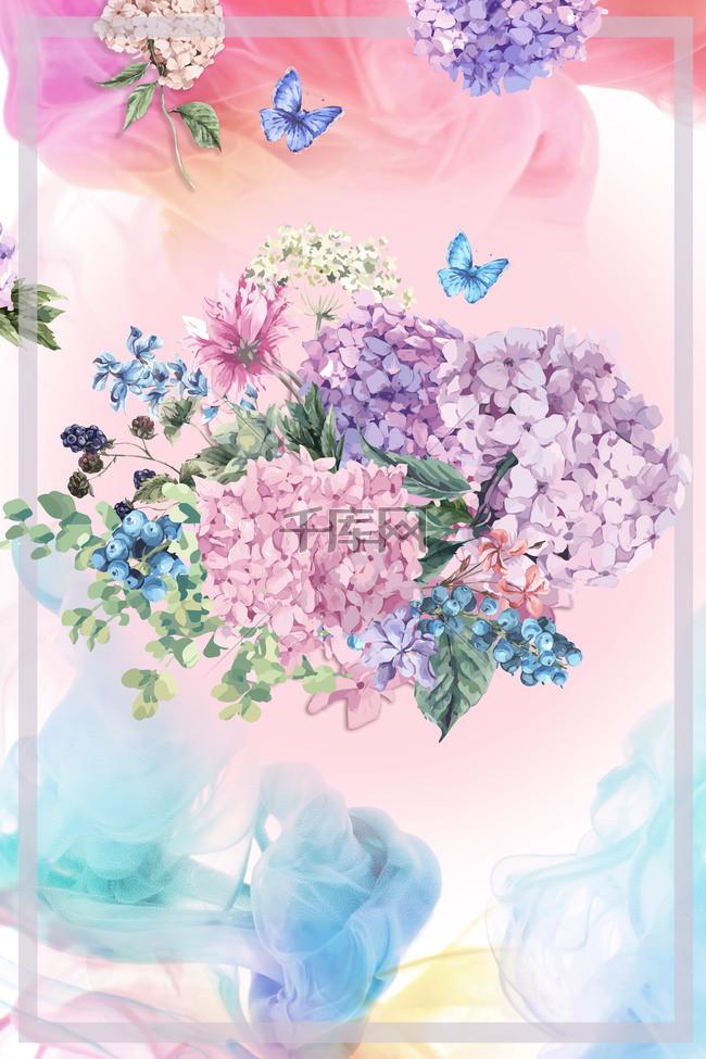 春季海报宣传广告背景