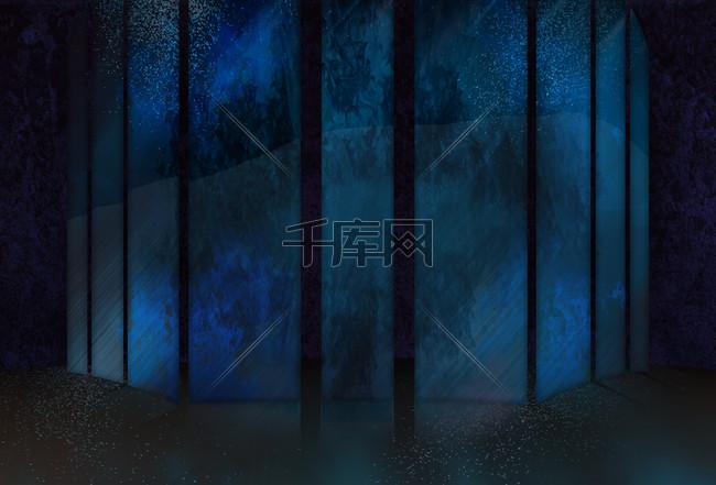 木板蓝色简约时尚聚会背景