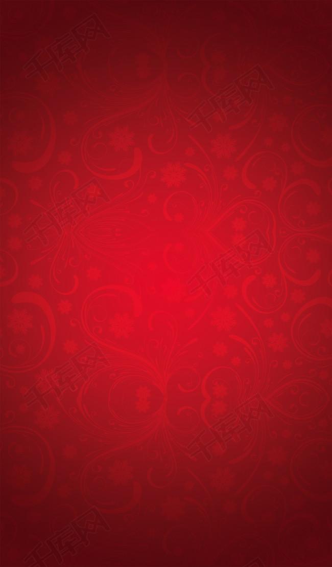 红色花纹底纹喜庆背景