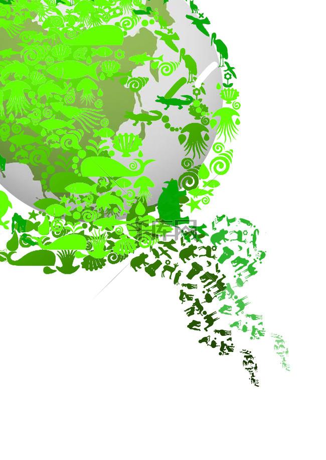 绿色地球公益海报背景