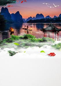 桂林山水高清背景素材下载 千库网