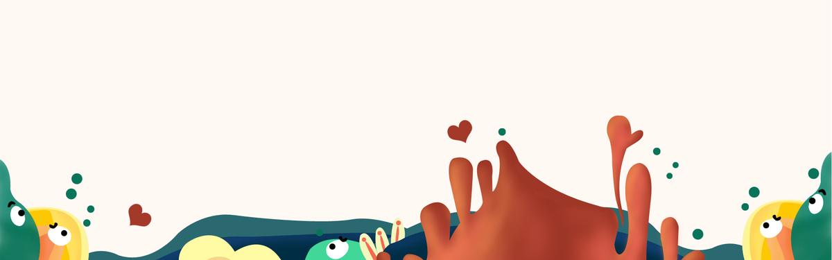 童趣卡通banner海报背景