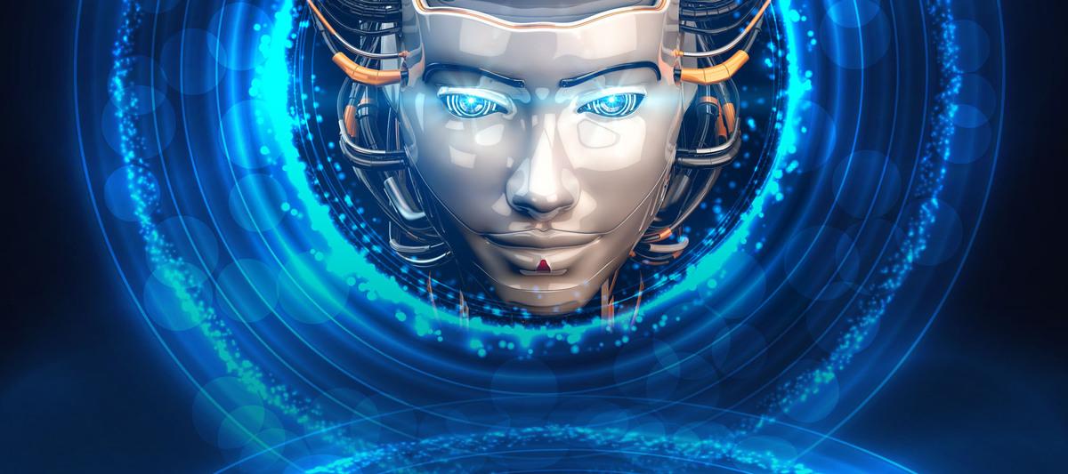 机器人科幻海报大气科技蓝色bannerpsd素材-90设计