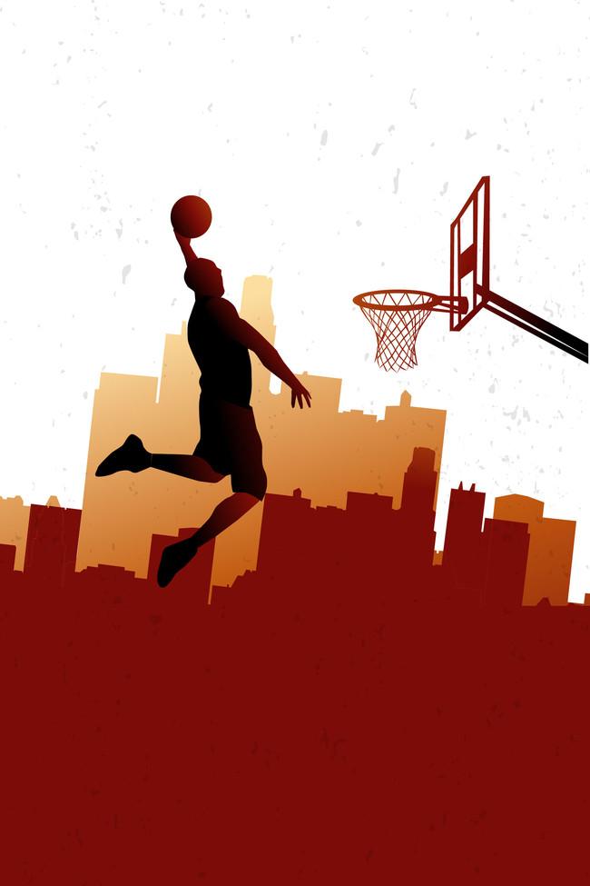 篮球运动海报背景素材