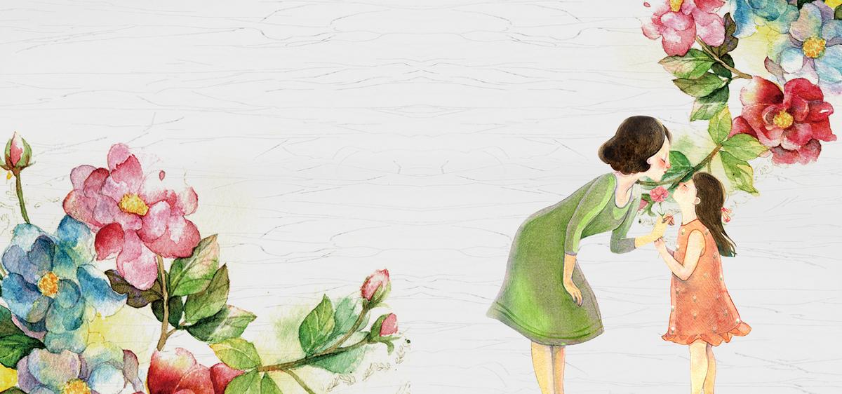 90设计提供母亲节手绘大众红色花朵纹理背景设计素材下载,高清psd格式