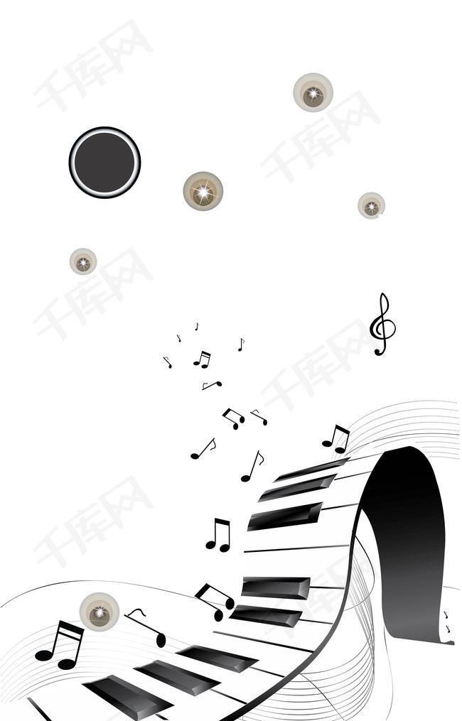 钢琴上的音符背景素材背景图片免费下载 广告背景 psd 千库网 图片编