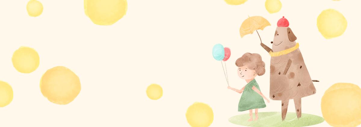 六一儿童节卡通童趣手绘banner
