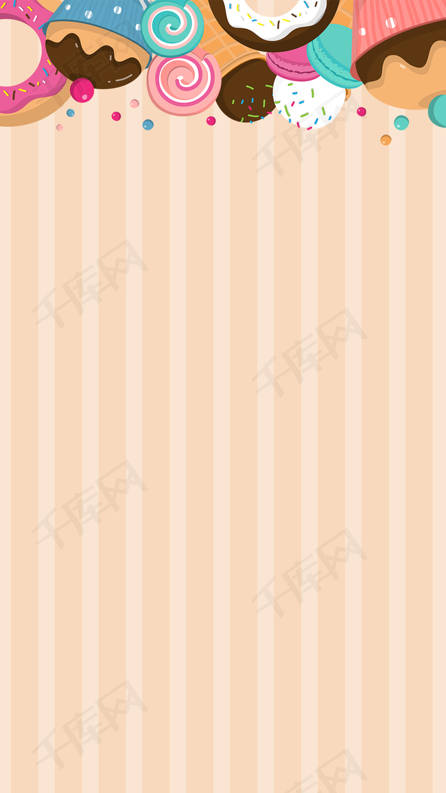 黄色条纹儿童节PSD分层H5背景素材