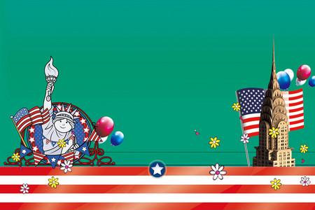 自由游卡通_【美国卡通背景图片】_美国卡通高清背景素材下载_千库网