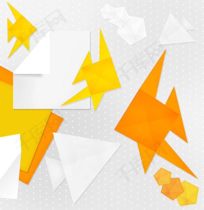 爱马仕黄色时尚折纸海报背景图片免费下载 广告背景 psd 千库网 图片编号4978805图片