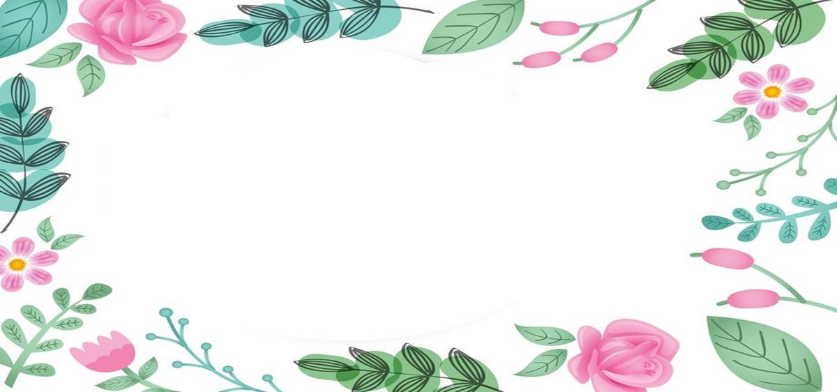 花朵文艺banner海报