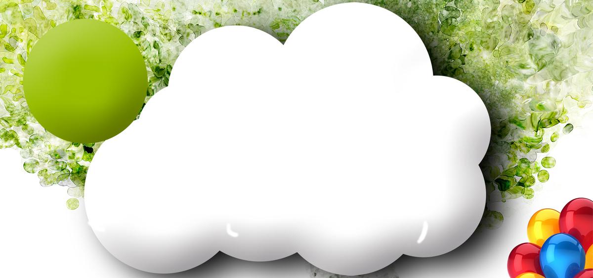 图片 > 【psd】 淘宝夏日小清新卡通云朵海报背景  分类:卡通/手绘