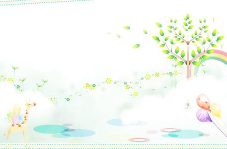 背景图片 儿童绘画 板报 背景素材