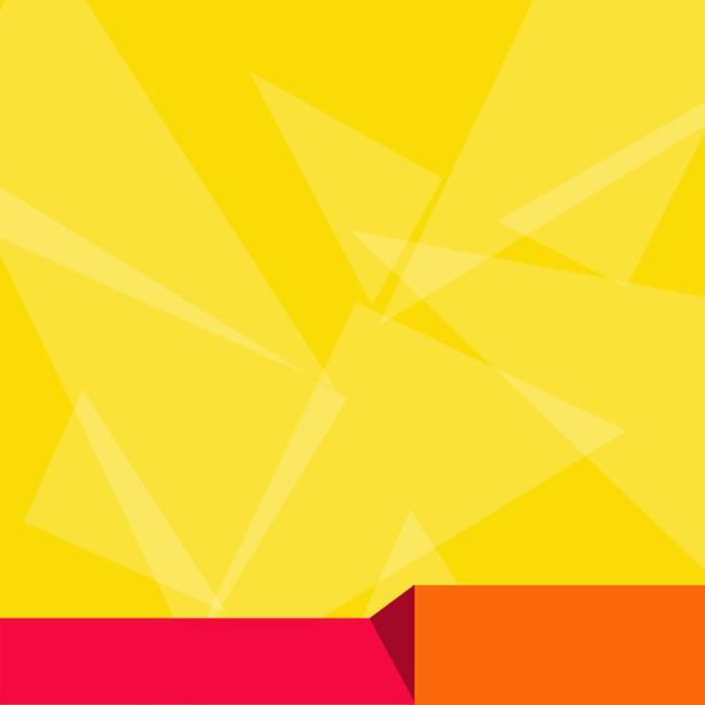 90设计提供黄色扁平几何背景促销主图设计素材下载,高清psd格式.