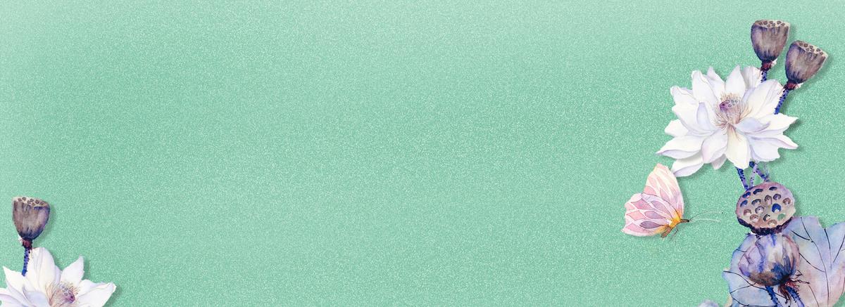 90设计提供夏日淡雅古风手绘荷花banner设计素材下载,高清psd格式.