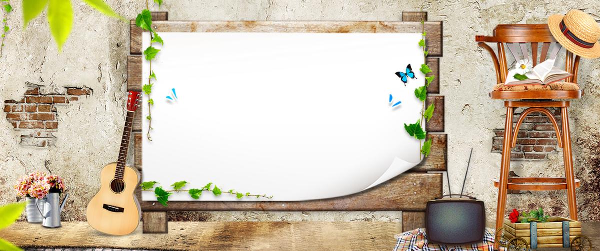 童话教育黑板背景banner图片