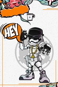 嘻哈音乐嘻哈派对音乐比赛海报背景素材