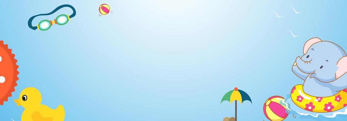 图片 > 【psd】 卡通小动物游泳蓝色背景  分类:卡通/手绘 类目:其他