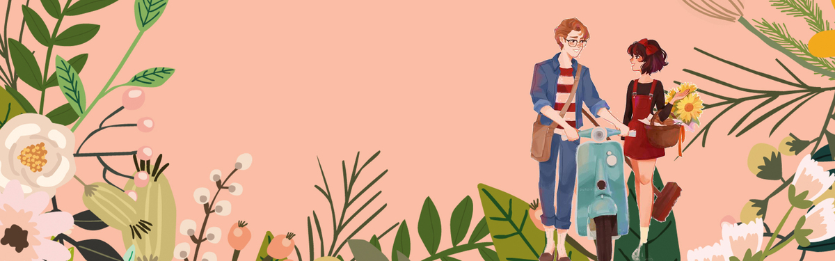 文艺小清新树叶粉色背景图片