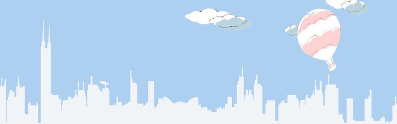 广州城市卡通背景
