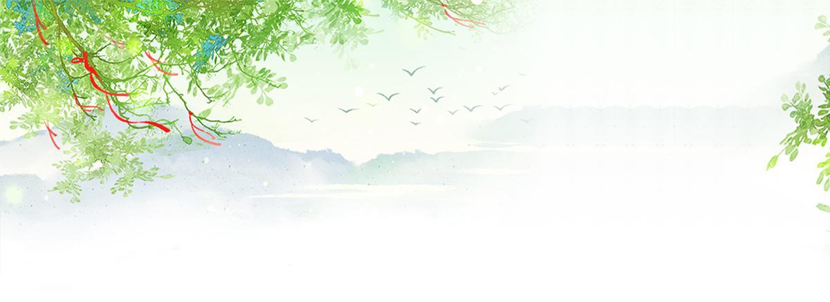 1920*700 90设计提供夏天文艺小清新柳叶绿色背景设计素材下载,高清ps