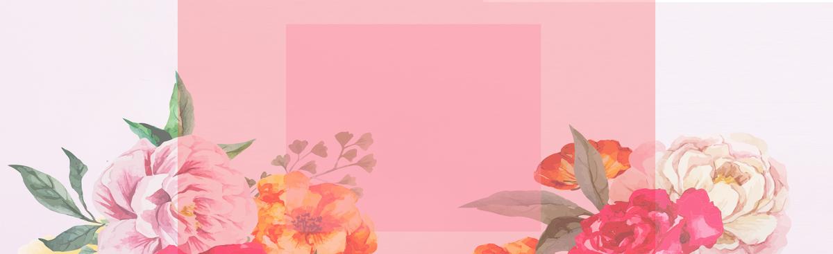 淘宝手绘玫瑰限时促销海报banner背景